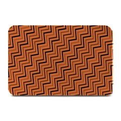 Brown Zig Zag Background Plate Mats by BangZart