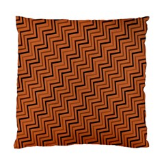 Brown Zig Zag Background Standard Cushion Case (one Side) by BangZart