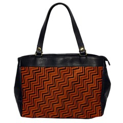 Brown Zig Zag Background Office Handbags by BangZart