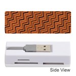 Brown Zig Zag Background Memory Card Reader (Stick)  Front