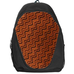 Brown Zig Zag Background Backpack Bag by BangZart