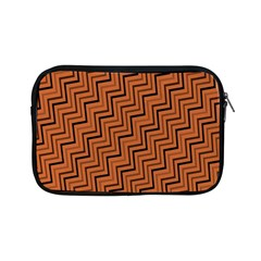 Brown Zig Zag Background Apple Ipad Mini Zipper Cases by BangZart