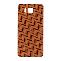 Brown Zig Zag Background Samsung Galaxy Alpha Hardshell Back Case by BangZart