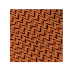 Brown Zig Zag Background Small Satin Scarf (square) by BangZart