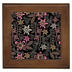 Flower Art Pattern Framed Tiles by BangZart
