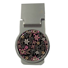 Flower Art Pattern Money Clips (round)  by BangZart