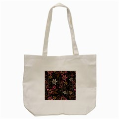 Flower Art Pattern Tote Bag (cream) by BangZart