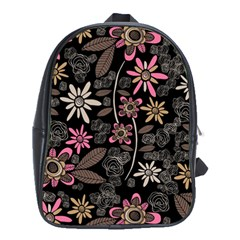 Flower Art Pattern School Bags (xl)  by BangZart