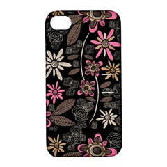 Flower Art Pattern Apple Iphone 4/4s Hardshell Case With Stand by BangZart