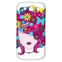 Beautiful Gothic Woman With Flowers And Butterflies Hair Clipart Samsung Galaxy S3 S Iii Classic Hardshell Back Case by BangZart