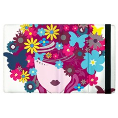 Beautiful Gothic Woman With Flowers And Butterflies Hair Clipart Apple Ipad Pro 12 9   Flip Case
