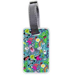 Monster Party Pattern Luggage Tags (two Sides) by BangZart