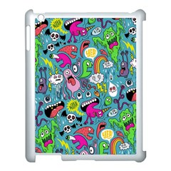 Monster Party Pattern Apple Ipad 3/4 Case (white) by BangZart