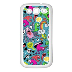 Monster Party Pattern Samsung Galaxy S3 Back Case (white) by BangZart