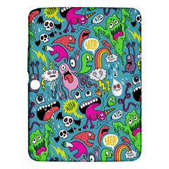 Monster Party Pattern Samsung Galaxy Tab 3 (10 1 ) P5200 Hardshell Case  by BangZart