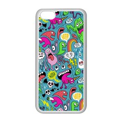 Monster Party Pattern Apple Iphone 5c Seamless Case (white)