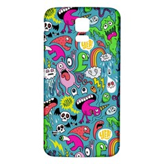 Monster Party Pattern Samsung Galaxy S5 Back Case (white) by BangZart
