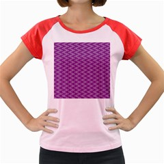 Zig Zag Background Purple Women s Cap Sleeve T-shirt