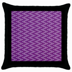 Zig Zag Background Purple Throw Pillow Case (black) by BangZart