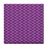 Zig Zag Background Purple Face Towel Front