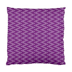 Zig Zag Background Purple Standard Cushion Case (two Sides) by BangZart