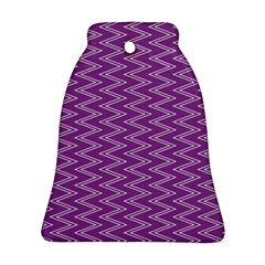 Zig Zag Background Purple Bell Ornament (two Sides)