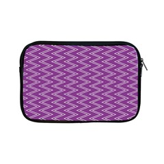 Zig Zag Background Purple Apple Ipad Mini Zipper Cases by BangZart