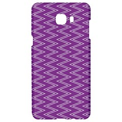 Zig Zag Background Purple Samsung C9 Pro Hardshell Case