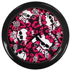 Mattel Monster Pattern Wall Clocks (black) by BangZart
