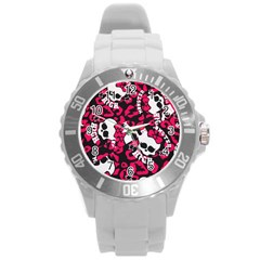 Mattel Monster Pattern Round Plastic Sport Watch (l) by BangZart