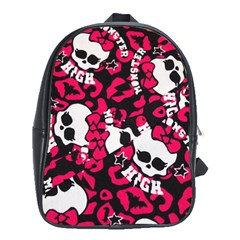 Mattel Monster Pattern School Bags (xl)  by BangZart