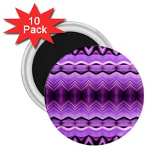 Purple Pink Zig Zag Pattern 2 25  Magnets (10 Pack)