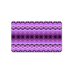 Purple Pink Zig Zag Pattern Magnet (name Card) by BangZart