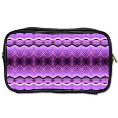 Purple Pink Zig Zag Pattern Toiletries Bags 2 Side by BangZart