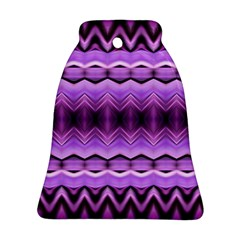 Purple Pink Zig Zag Pattern Bell Ornament (two Sides) by BangZart
