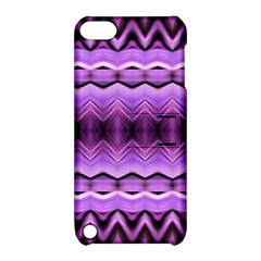 Purple Pink Zig Zag Pattern Apple Ipod Touch 5 Hardshell Case With Stand by BangZart
