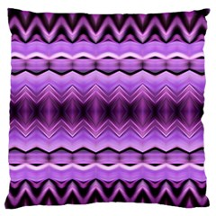Purple Pink Zig Zag Pattern Large Flano Cushion Case (two Sides) by BangZart