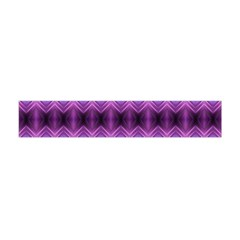 Purple Pink Zig Zag Pattern Flano Scarf (mini)