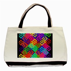 3d Fsm Tessellation Pattern Basic Tote Bag by BangZart