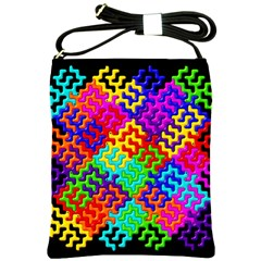 3d Fsm Tessellation Pattern Shoulder Sling Bags by BangZart