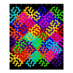 3d Fsm Tessellation Pattern Shower Curtain 60  X 72  (medium)  by BangZart
