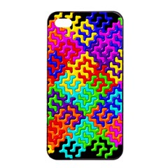 3d Fsm Tessellation Pattern Apple Iphone 4/4s Seamless Case (black) by BangZart