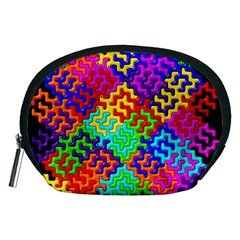3d Fsm Tessellation Pattern Accessory Pouches (medium)  by BangZart