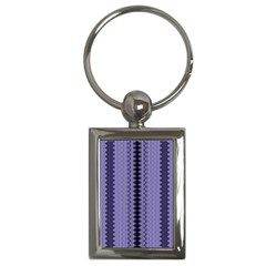 Zig Zag Repeat Pattern Key Chains (rectangle)  by BangZart