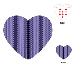 Zig Zag Repeat Pattern Playing Cards (heart)  by BangZart