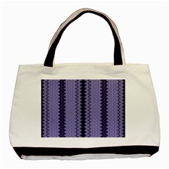 Zig Zag Repeat Pattern Basic Tote Bag by BangZart
