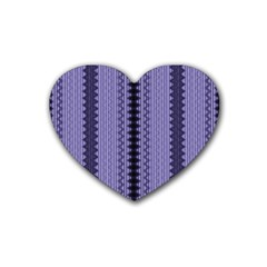 Zig Zag Repeat Pattern Rubber Coaster (heart)  by BangZart