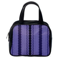 Zig Zag Repeat Pattern Classic Handbags (one Side) by BangZart