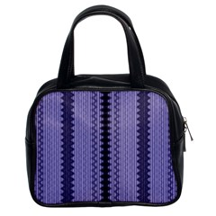 Zig Zag Repeat Pattern Classic Handbags (2 Sides) by BangZart