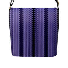 Zig Zag Repeat Pattern Flap Messenger Bag (l)  by BangZart